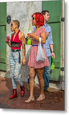 French Quarter - Party Time Metal Print by Steve Harrington