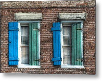 French Quarter Windows Metal Print by Brenda Bryant