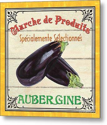 French Vegetable Sign 3 Metal Print by Debbie DeWitt