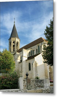 French Village Church Metal Print by Olivier Le Queinec