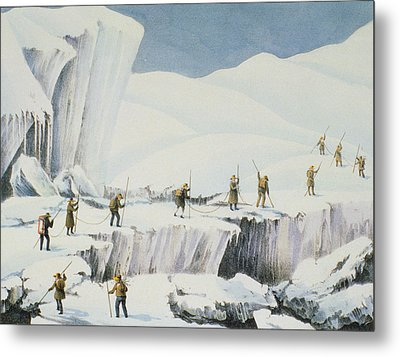 Frequent Appearance Of The Ice Metal Print by English School