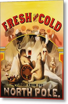 Fresh And Cold Direct From The North Pole Metal Print by Digital Reproductions