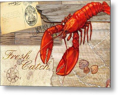 Fresh Catch Lobster Metal Print by Paul Brent