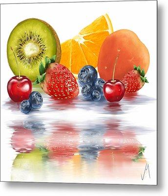 Fresh Fruits Metal Print by Veronica Minozzi