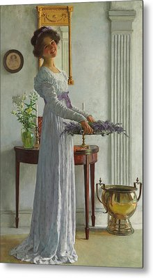 Fresh Lavender Metal Print by William Henry Margetson