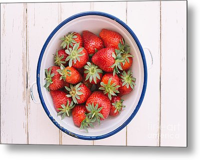Fresh Strawberries  Metal Print by Viktor Pravdica