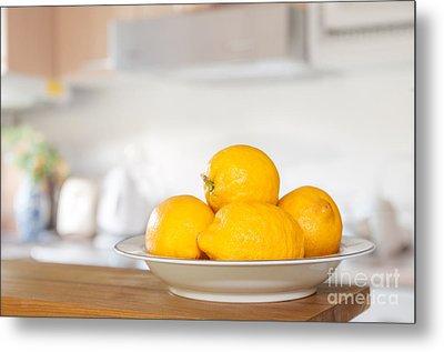 Freshly Picked Lemons Metal Print by Amanda Elwell
