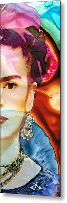 Frida Kahlo Art - Seeing Color Metal Print by Sharon Cummings