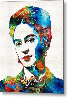 Frida Kahlo Art - Viva La Frida - By Sharon Cummings Metal Print by Sharon Cummings