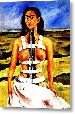 Frida Kahlo The Broken Column Metal Print by Pg Reproductions