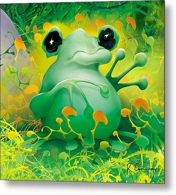 Friendly Frog Metal Print by Robert Conway