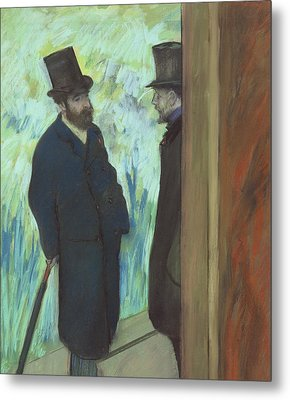 Friends At The Theater Metal Print by Edgar Degas