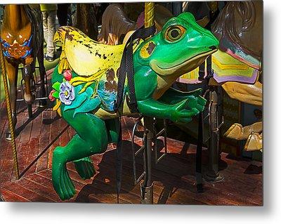 Frog Carrousel Ride Metal Print by Garry Gay