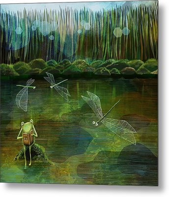 Frog On His Rock Metal Print by Catherine Swenson