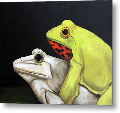 Froggy Style Edit 2 Metal Print by Leah Saulnier The Painting Maniac