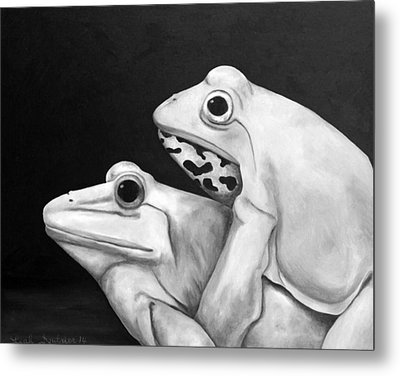 Froggy Style Edit 3 Metal Print by Leah Saulnier The Painting Maniac