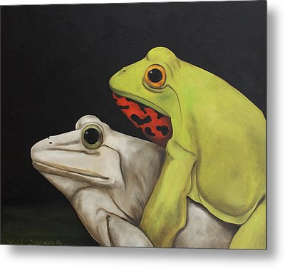 Froggy Style Metal Print by Leah Saulnier The Painting Maniac