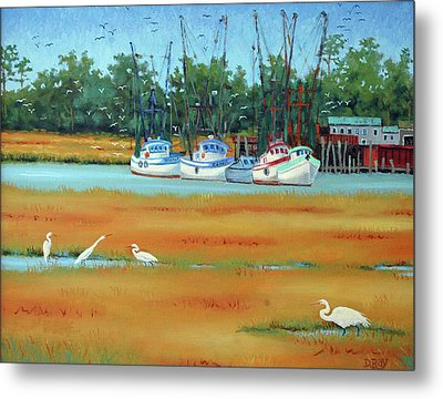 Frogmore Boats Metal Print by Dwain Ray