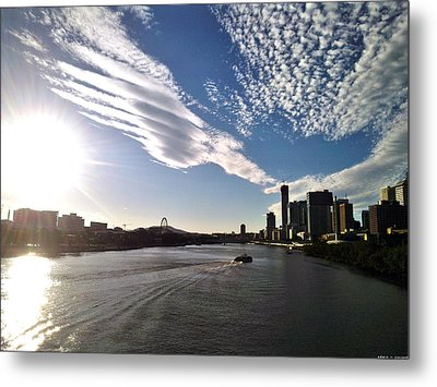 From Brisbane With Love Metal Print by Edwin Vincent
