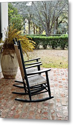 Front Porch Rockers Metal Print by Scott Pellegrin