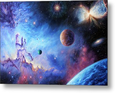 Frontiers Of The Cosmos Metal Print by Lucy West