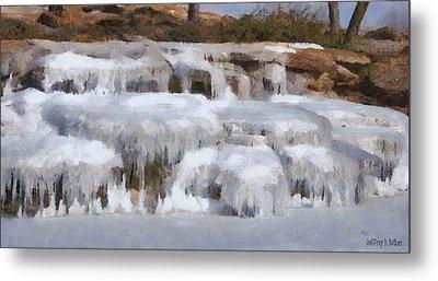 Frozen Falls Metal Print by Jeff Kolker