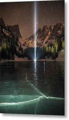 Frozen Illumination At Dream Lake Rmnp Metal Print by Mike Berenson