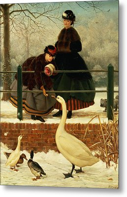 Frozen Out Metal Print by George Dunlop Leslie
