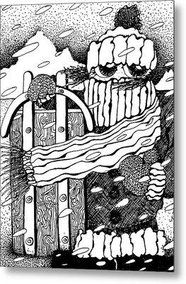 Frozen To The Sled Metal Print by Joy Bradley
