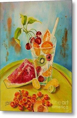 Fruit Coctail Metal Print by Summer Celeste
