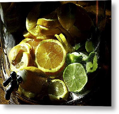 Fruit Drink Metal Print by Camille Lopez