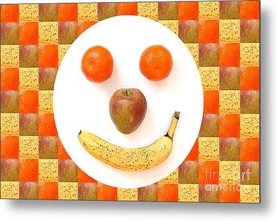 Fruit Face Metal Print by Natalie Kinnear