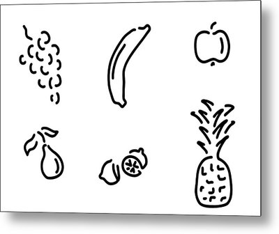 Fruits Metal Print by Lineamentum