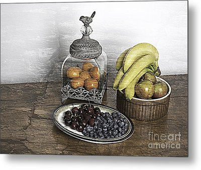 Fruit Still Life Metal Print by Lesley Rigg