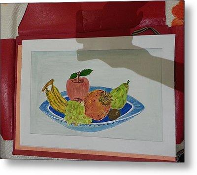 Fruit Trey Metal Print by Ramroop Yadav