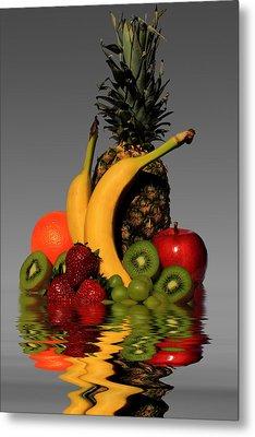 Fruity Reflections - Medium Metal Print by Shane Bechler