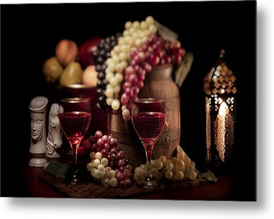 Fruity Wine Still Life Metal Print by Tom Mc Nemar