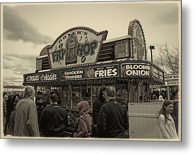 Fry Hop Metal Print by Tom Gari Gallery-Three-Photography