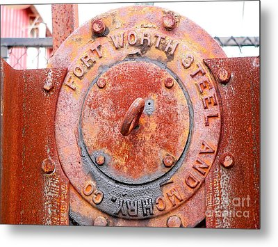 Ft Worth Steel Metal Print by Angela Wright