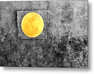 Full Moon Metal Print by Rebecca Sherman
