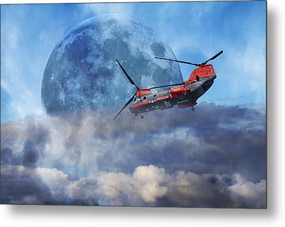 Full Moon Rescue Metal Print by Betsy C Knapp