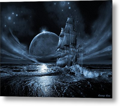 Full Moon Rising Metal Print by George Grie