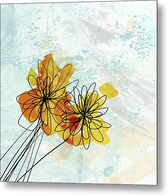 Fun Flowers  Metal Print by Ann Powell