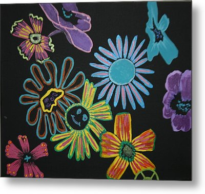 Funky Flowers Metal Print by Betty-Anne McDonald