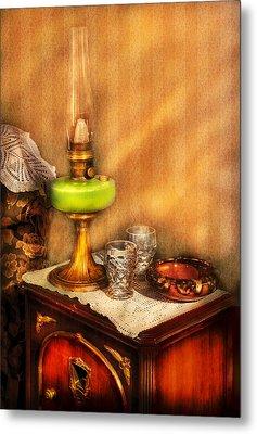 Furniture - Lamp - The Gas Lamp Metal Print by Mike Savad