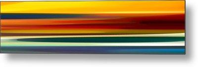 Fury Seascape Panoramic 2 Metal Print by Amy Vangsgard