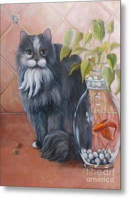 Fuzz And Homer Metal Print by Marlene Book