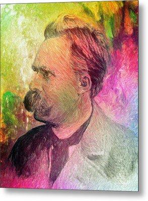 F.w. Nietzsche Metal Print by Taylan Soyturk