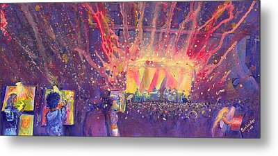 Galactic At Arise Music Festival Metal Print by David Sockrider