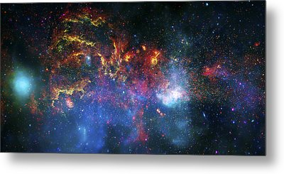 Galactic Storm Metal Print by The  Vault - Jennifer Rondinelli Reilly